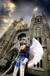 Blue Wolf Kamael I by pinkyluxun
