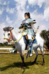 Zhao Yun and White Horse by pinkyluxun