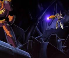 Galvatron attacks Hot Rod by du365