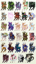 Deerb Recolors Batch #2 by Shadowwolf