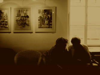 Seance in the gallery by MeadowFay