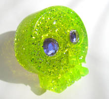 Skelly ring lime by pinkminx