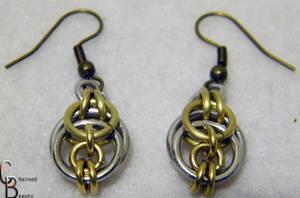 Brass Knot Earrings Detail by ChainedBeauty