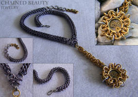 Steampunk Compass Necklace by ChainedBeauty