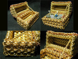 Chainmaille Treasure Chest Details by ChainedBeauty