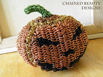 Chainmaille Jack-O-Lantern by ChainedBeauty