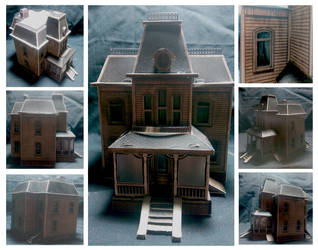 The Bates House Papercraft Model by SinistrosePhosphate