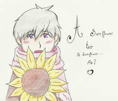 chibi!russia - A sunflower to a sunflower by Brann-Nakamaru