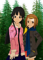 K-ON Mio and Ritsu by ABping