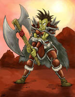 Orc Warrior by Cadychan