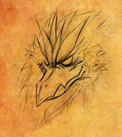 Arakkoa - head detail by Cadychan