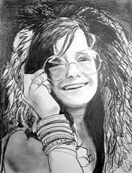 Portrait of Janis Joplin by filmshirley