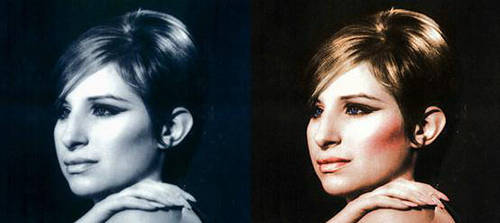 Barbra  Colourisation by x---Justme