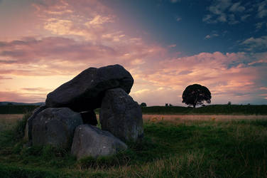 Giant's Ring, Belfast Sunset 2 by Gerard1972