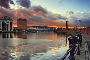 Belfast Laganside Sunset by Gerard1972