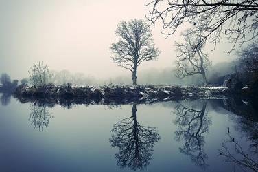 Drum Bridge, Winter Mist by Gerard1972