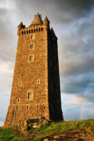 Scrabo Tower with Rainbow by Gerard1972