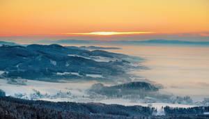 Sunrise over Hermankovice by Rajmund67