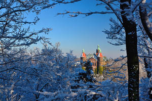 Ksiaz Castle and a lot of snow by Rajmund67