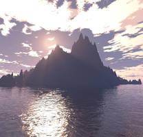Sunset Peak by MysticrainbowStock