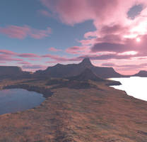 Red Clouds Landscape Stock by MysticrainbowStock