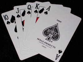 Royal Flush Card Stock by MysticrainbowStock