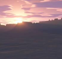 Desert Sunset by MysticrainbowStock