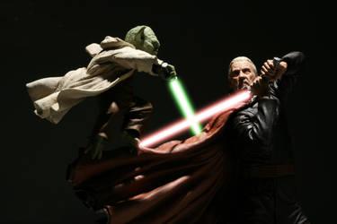 Yoda vs Dooku by DigitalPimp74