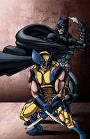.....Batman and Wolverine..... by thelearningcurv
