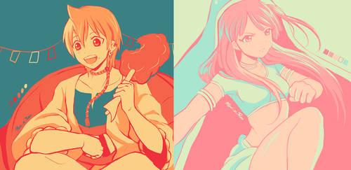 Alibaba and Morgiana +palette meme+ by Mari-m-Rose