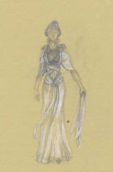 Dress-ancient dress by InStantUsage