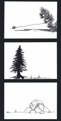 Austrian Alps plateau sketches by InStantUsage