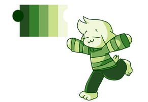 Asriel but with a cool color palette by PinksieHeartwishes