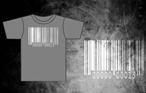 Bar-Code Gray T-Shirt by BRokeNARRoW13