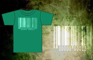 Bar-Code Green T-Shirt by BRokeNARRoW13