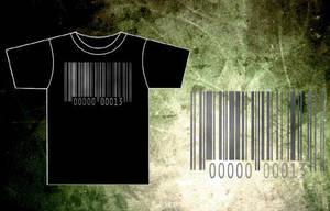 Bar-Code Black T-Shirt by BRokeNARRoW13