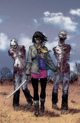 The Walking Dead #19: Introducing Michonne by DoctorAlucard