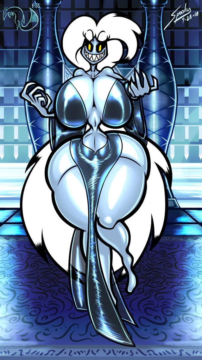 Portrait Wallpaper - Queen Spooky by grayscalerain