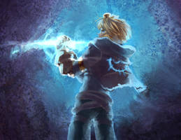 Ezreal quick painting by sephiroh-Ignis