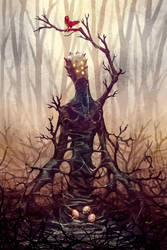 Sentient tree by BlindHead