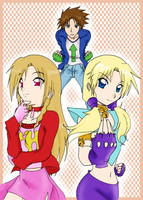 Phoenix ,Taro and Rushuna by Letucse