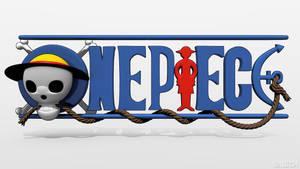 One piece logo by maudz04