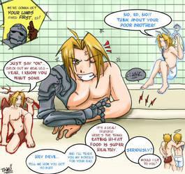 FMA - Ed really hates baths by thiro
