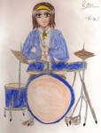 Ritsu on her Drums by owlkatz