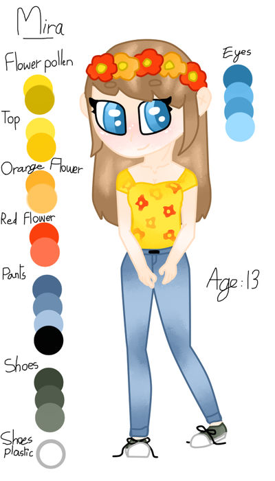 Mira - Official Oc reference sheet by TinaART2305 by TinaART2305