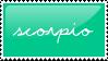 Zodiac Stamp: Scorpio by AvengingSeraphim
