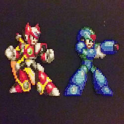 Megaman X and Zero by HDorsettcase