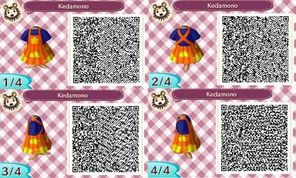 ACNL QR- Kedamono Dress by Lover-of-Music