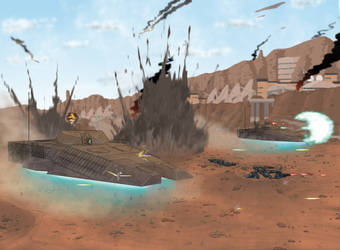 Assault at Deryn Heights by goeliath