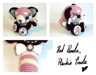 red panda amigurumi - plushie trade. by tiny-tea-party